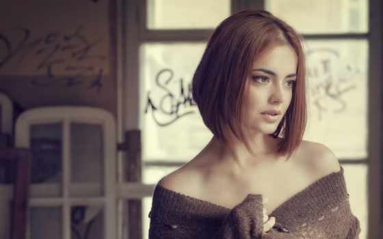 девушка, красивая, задумчивая, взгляд, girls, devushki, katjakul, платье, плечи, hairstyle,