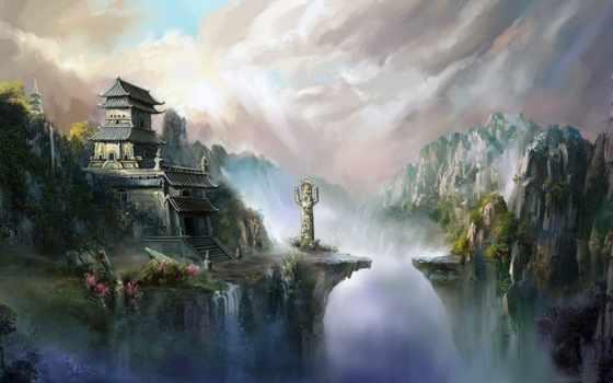 картинка, fantasy, world, fantastic, замки, фантастика, фантастические, art,