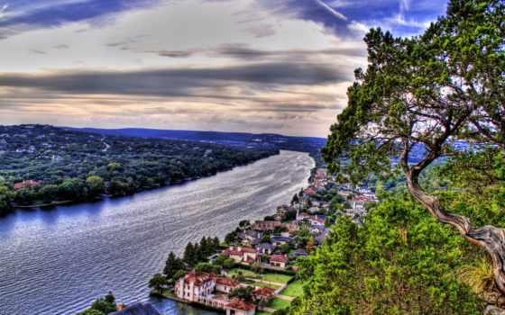 hdr, mount, город, река, bonnell, фотографий, качественные, взгляд, красивые, фоты, больших,