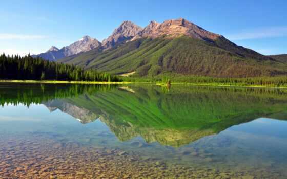природа, горы, озеро, landscape, природы, summer, широкоформатные,