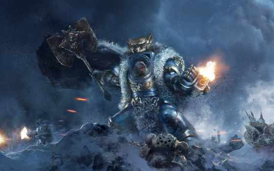 warhammer, art, космос, wolves, pinterest, об, more, see, images,