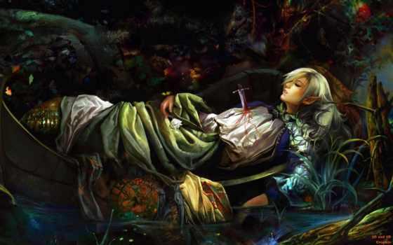 elfy, art, лесные