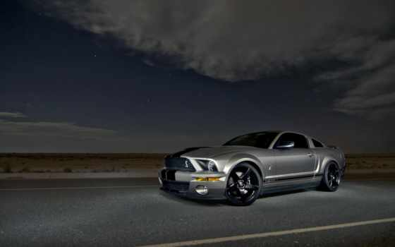 muscle, gt500, ford, mustang, shelby, silver, car, небо,