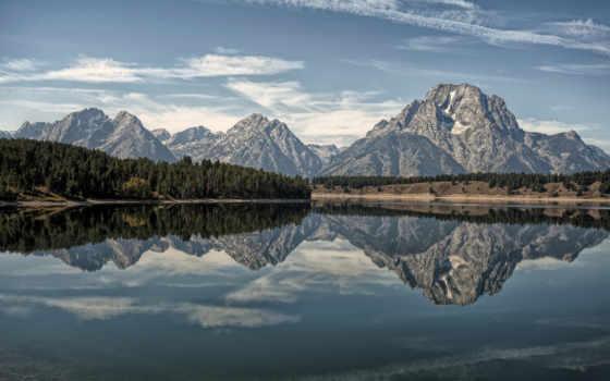 grand, teton, national, park, титон, wyoming, озеро, гранд, горы, природа, сша,
