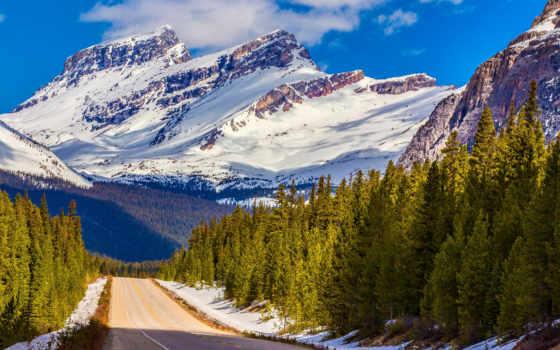 banff, parque, canadá, nacional, альберта, канада, montañas, канадский, nieve, parques, national,