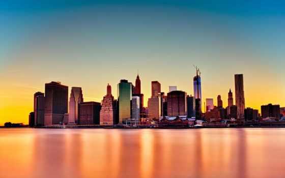 iphone, сша, город, нью, york, небоскребы, usa, мегаполис,