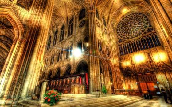 dame, notre, inside, cathedral, париж, high, алтарь, you, best,