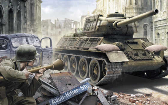 танк, pictures, soviet, art, drawing, средний, war, medium, t-34-85,