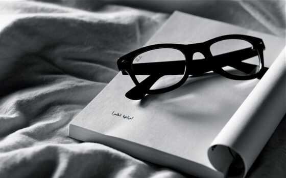 очки, белое, ткань