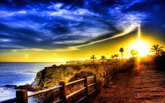 дорога, more, побережье