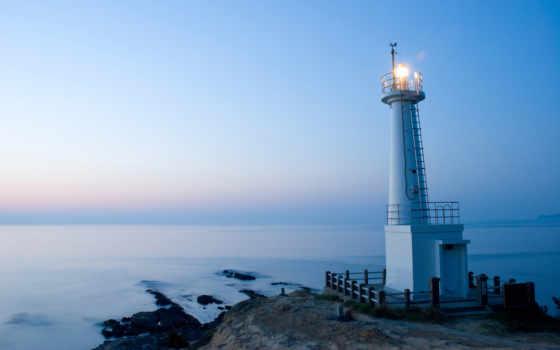 lighthouse, море, красивые, house,