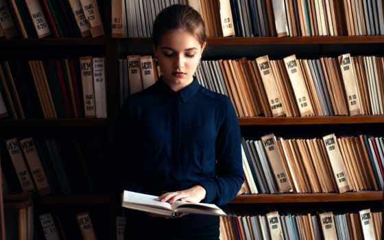девушка, библиотеке, библиотека, растровый, firestock, книги, пикс, клипарт,