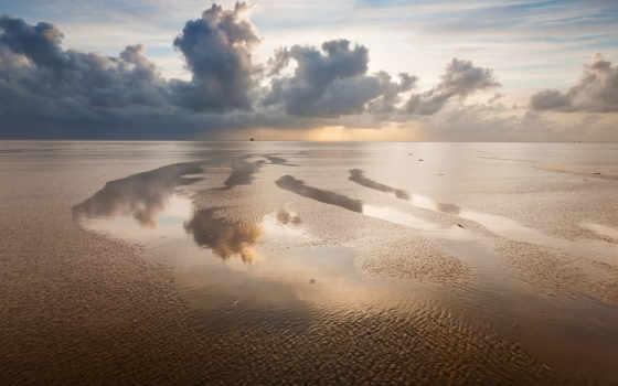 море, небо, спокойствие, страница, облака, взгляд, пляж, июня,