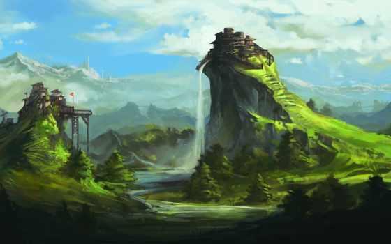 art, landscape, фантастика