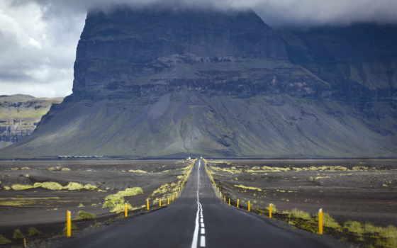 landscape, дорога, гора