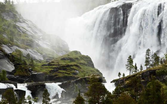 водопад, норвегия, норвегия
