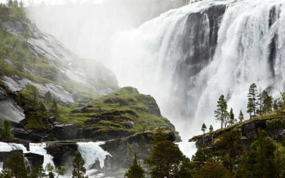 водопад, норвегия, норвегия, деревня, рыбалка, sami, водопад, priroda, small,