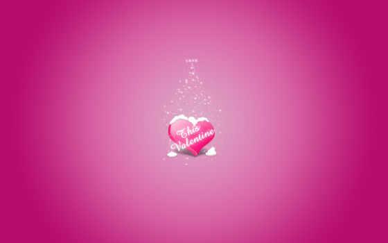 день, валентина, святого, надпись, сердце, love, влюбленных,