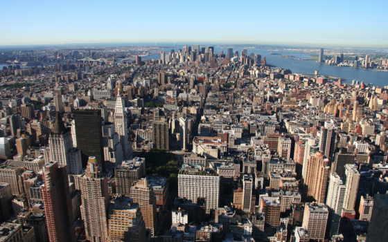 new, york, город, manhattan, нью, небоскребы, здания,