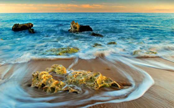 море, пляж, clouds, desktop, природа, beaches, побережье,