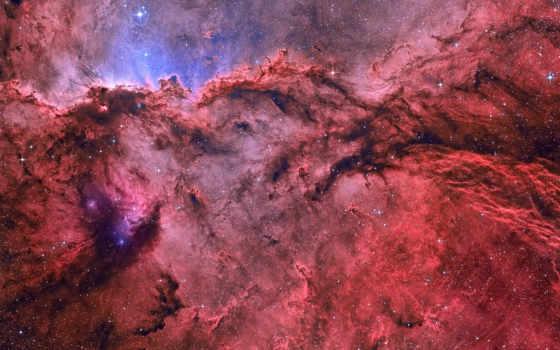 nebula, ngc, эмиссионная, созвездии, туманности, лет, водорода, световых, ионизированного, эмиссионной, land,