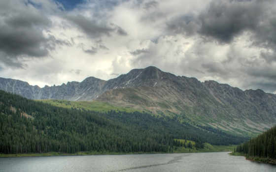 природа, небо, горы