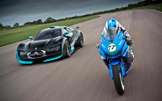 citroen, bike, bmw, взгляд, electric, мото, video, сбоку, мотоцикл, throttle,