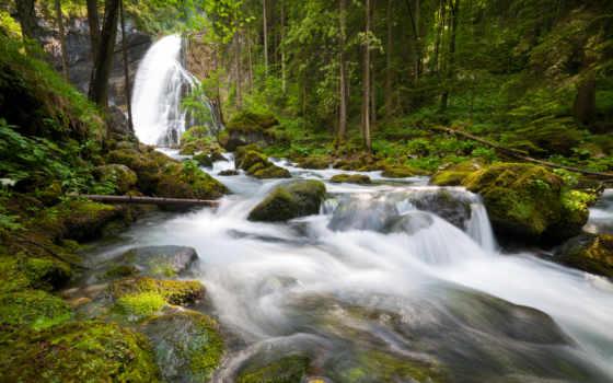 водопад, waterfalls, flowers, природа, rocks, самый, water, trees, world, falls,