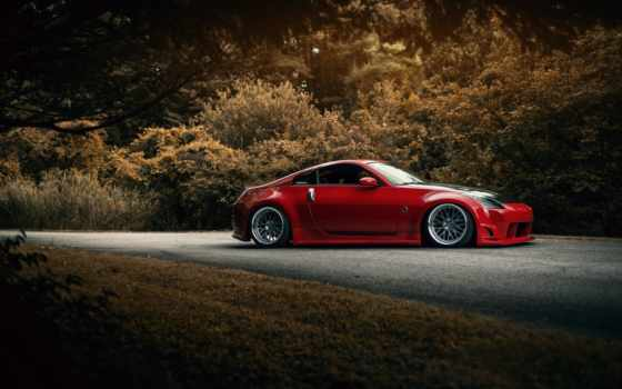 nissan, stance, red, free, source, cars,
