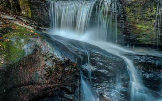 tapety, водопад, природа, река, камни, wodospady, pulpit, wodospad,