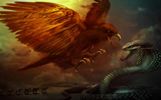 орлан, snake, битва, caravan, пустыня,
