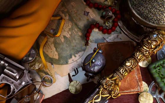 uncharted, игры, плакат, map, jewelry, красивые, китая,