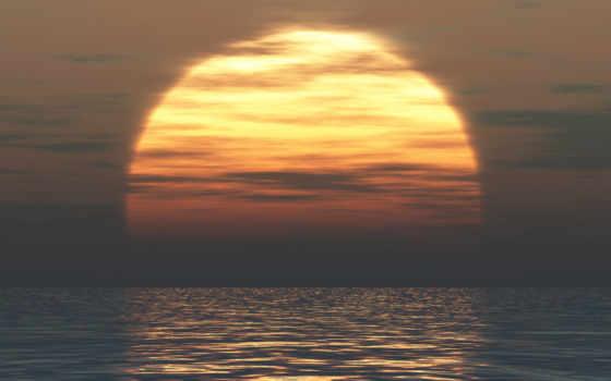 закат, солнца, sun