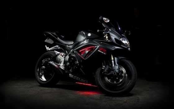 suzuki, gsx, мотоцикл, bike, black, neon,