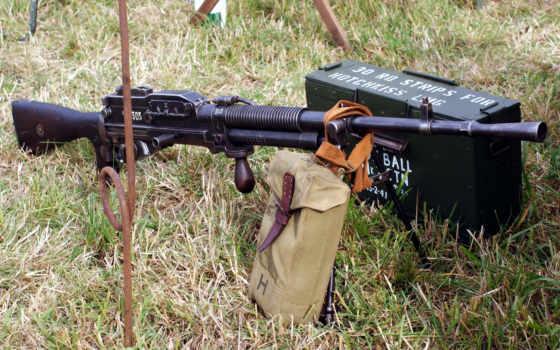 пулемёт гочкиса ручной с ящиком патронов