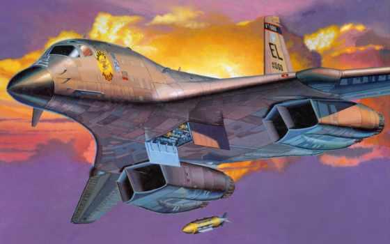 бомбардировщик, lancer, американский