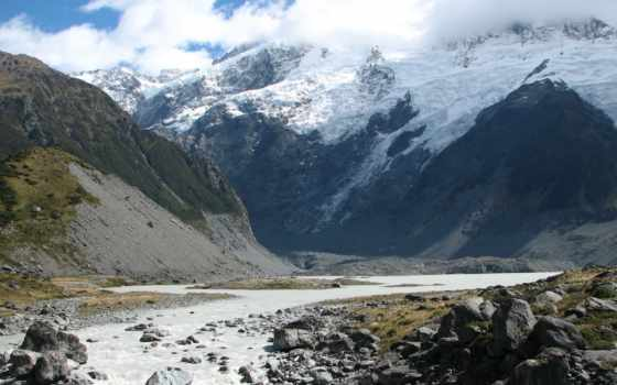 снег, rocks, mountains, гора, landscapes, пляж, природа,