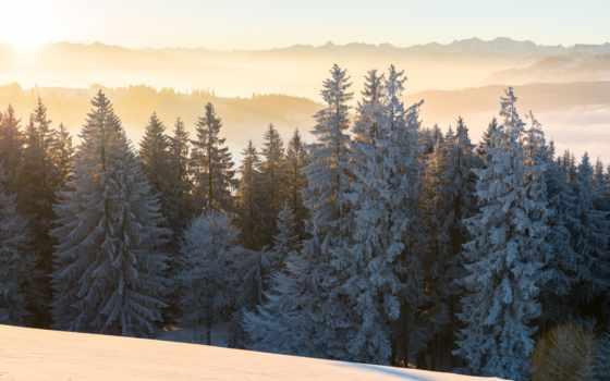 мусульманский, утро, небо, winter, пейзажи -, just, landscape, oblaka,