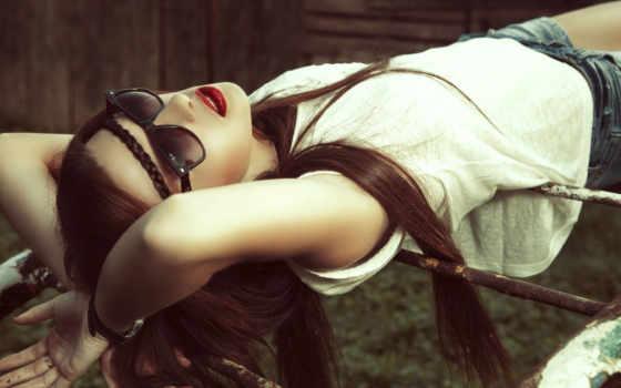 point, brunette, девушка, dark, небо, see, использование, фото, картинка, free