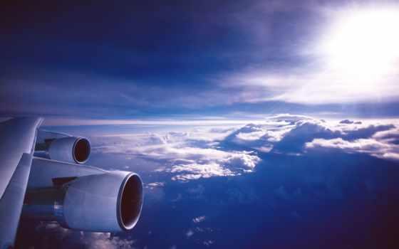 крыло, airplane, авиация, clouds, plane, самолёт, небо, engines,