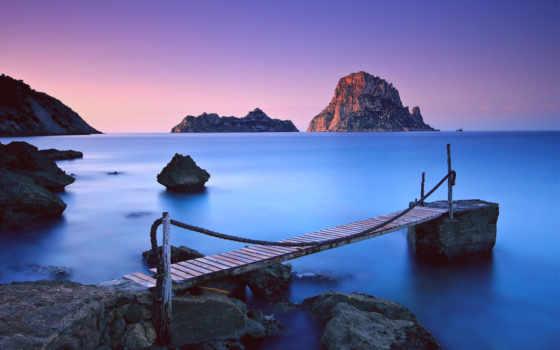 море, stv, остров, wl, supra, небо, скалы, природа, закат,