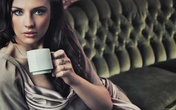 coffee, девушка, сюжетные, чашкой, чая, cup, аромат,