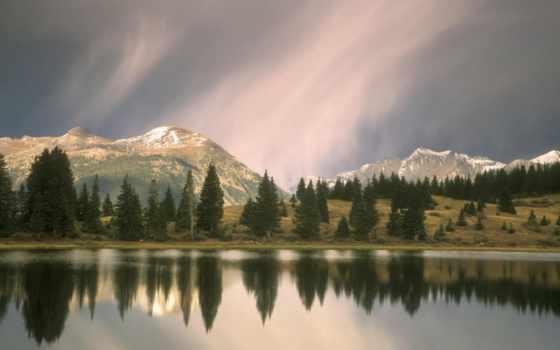 landscape, nokia, берегу, widescreen, reki, high, озера, природа,
