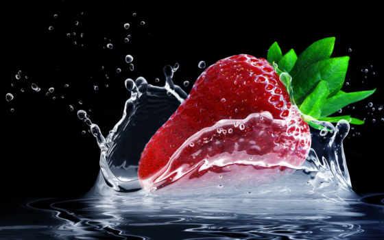 , tonejet, ягода, графика, клубника, images, water,