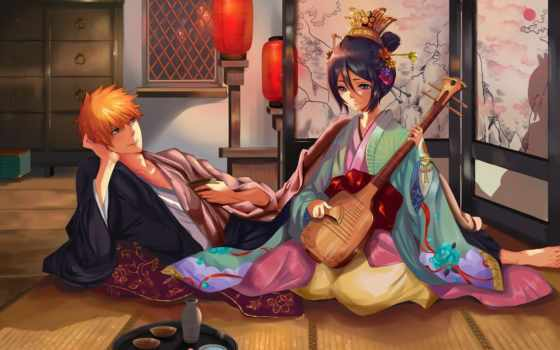 anime, ичиго, kurosaki, bleach, парень, art, amino, девушка,