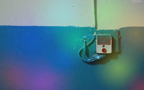 звонок, радуга, стена, сигнал, картинка, красивых, минимализм, подборка,