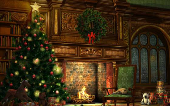 новогодние, share, дерево