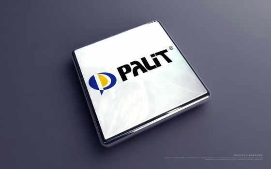 Palit лого прямоугольное объёмное