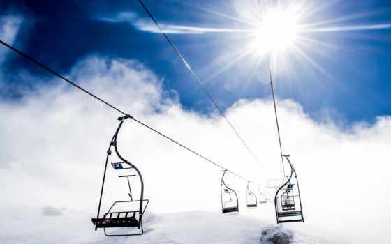 небо, desktop, free, lone, views, resolution, снег,