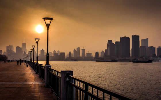 shanghai, город, профессор, вектор, городов, архитектуры, небоскребы, китаянка, картинка,